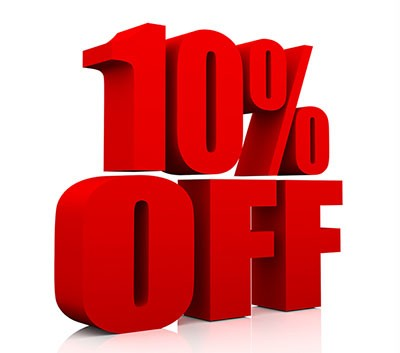 10 % off all apparel