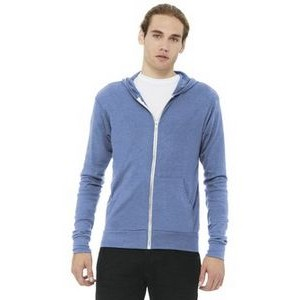 Bella+Canvas® Unisex Triblend Full Zip Lightweight Hoodie
