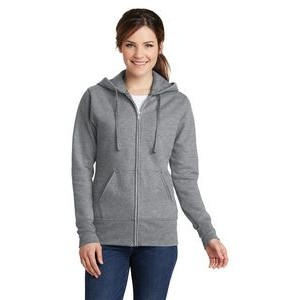 Port & Company® Ladies' Core Fleece Full-Zip Hooded Sweatshirt