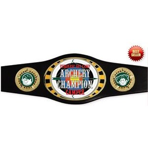 Vibraprint™ Juniors Championship Belt in Black