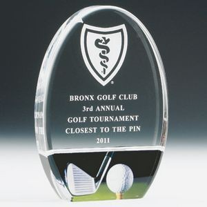 "7"" Acrylic Golf Trophy"