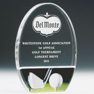 "8"" Acrylic Golf Trophy"