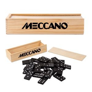 Dominoes in Wooden Box