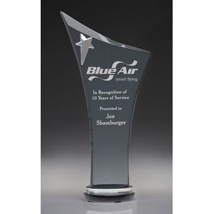 Large Soaring Star Crystal Award