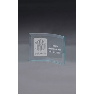 Medium Curved Jade Crystal Prisma Award