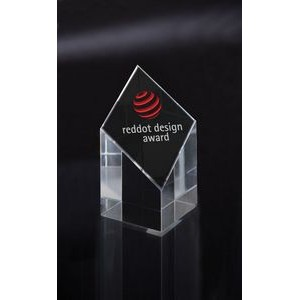 Small Diamond Pillar Optical Crystal Award