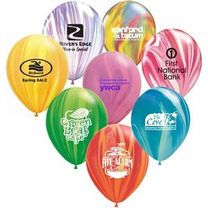 "11"" Qualatex Round SuperAgate Color Latex Balloon"
