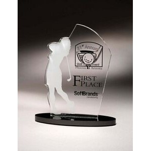 "Female Golfer Sporting Silhouette Award (9"")"