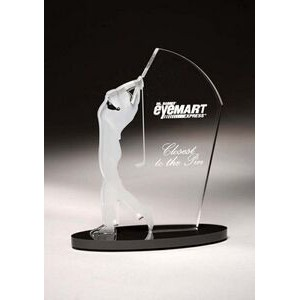 "Male Golfer Sporting Silhouette Award (9"")"