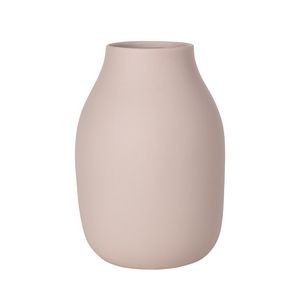 "Blomus Colora Rose Dust Porcelain Vase (8"" x 6"")"