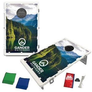 Official Baggo Bean Bag Toss Game w/ 2 Portable Cornhole Style Game Boards & 8 Bags