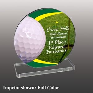 Medium Golf Themed Full Color Acrylic Award
