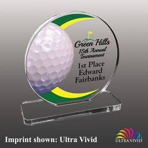 Small Golf Themed Ultra Vivid Acrylic Award