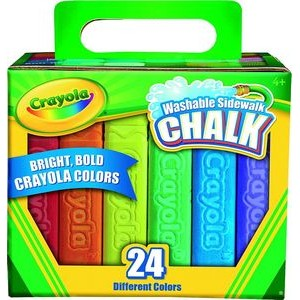 Crayola� 24 Count Washable Sidewalk Chalk