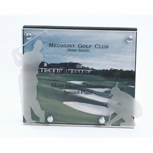 "Digital Imprint Golf Plaque (7""x6"")"