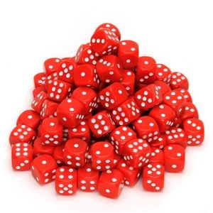 Red Dice w/Rounded Corners - 100 Pack