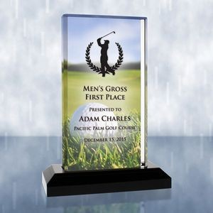 Sublimational Beveled Impress Acrylic Golf Award (Small)