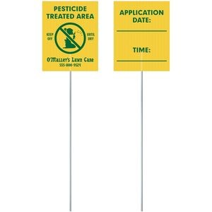 "5"" x 4"" Corrugated Value Posting Signs - One Sided Print"